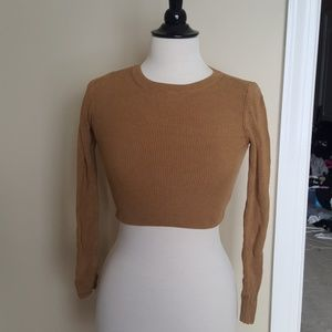 NWOT topshop cropped sweater